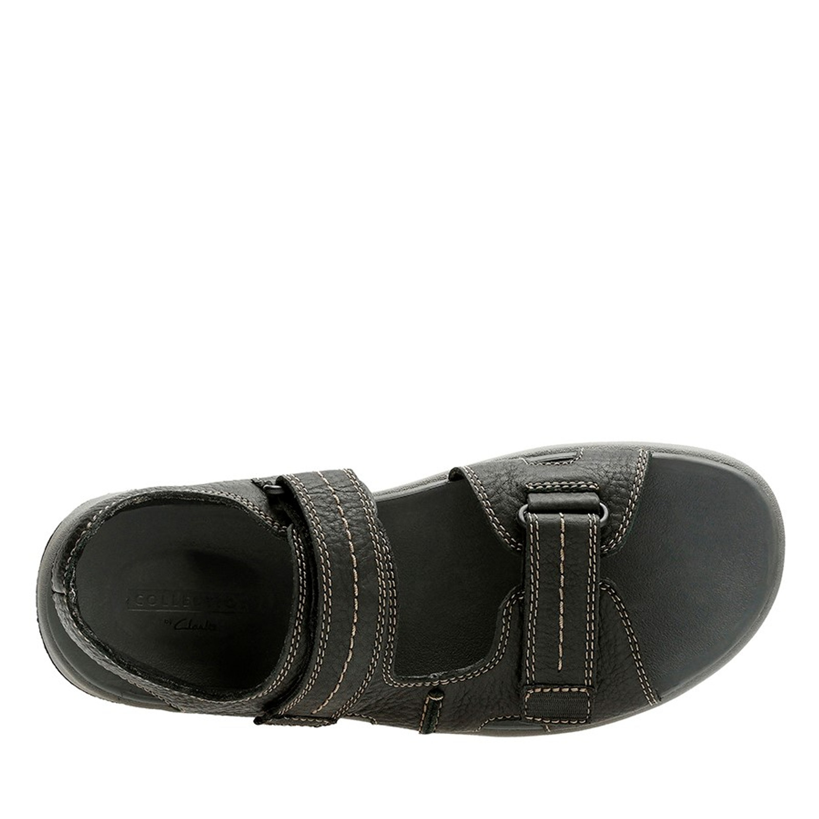 Clarks Mens BRIXBY SHORE Black Leather