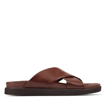 Clarks Sunder Cross British Tan Leather