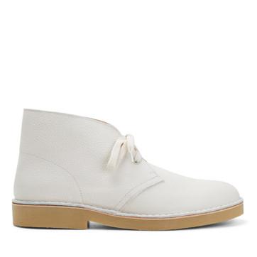 Clarks Desertboot Comfort Mens White Leather
