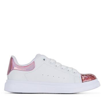 Clarks Queenie White/Pink