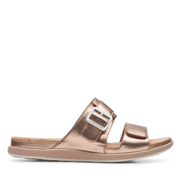 Clarks Step June Sun Rose Gold Synthetic
