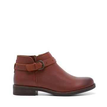 Clarks Demi2 Tone Dark Tan Leather