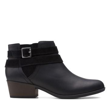 Clarks Adreena Show Black Leather