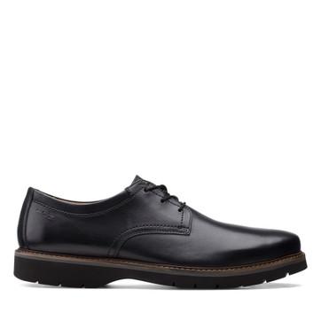 Clarks Bayhill Plain Black Leather