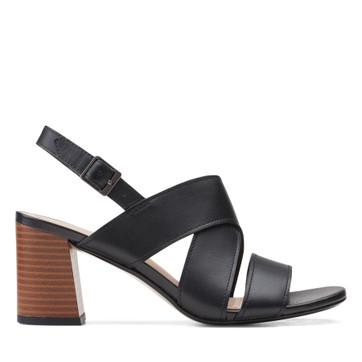Clarks Jocelynne Bao Black Leather