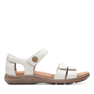 Clarks Kylyn Strap White Leather