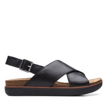 Clarks Elayne Cross Black Leather