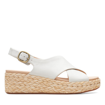 Clarks Kimmei Cross White Leather