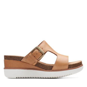 Clarks Lizby Ease Sand Leather