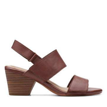 Clarks Lorene Bright Tan Leather