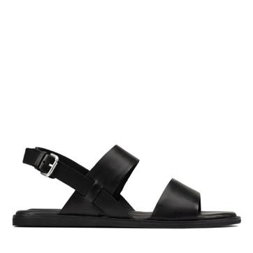 Clarks Karsea Strap Black Leather