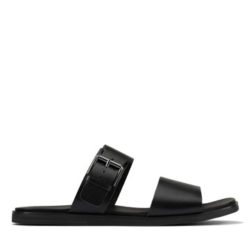 Clarks Ofra Slide Black Leather