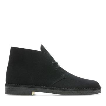 Clarks Desert Boot (M) Black Suede Ii