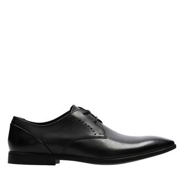 Clarks Bampton Lace Black Leather