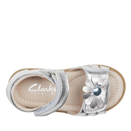 Clarks Girls Silver  Callie
