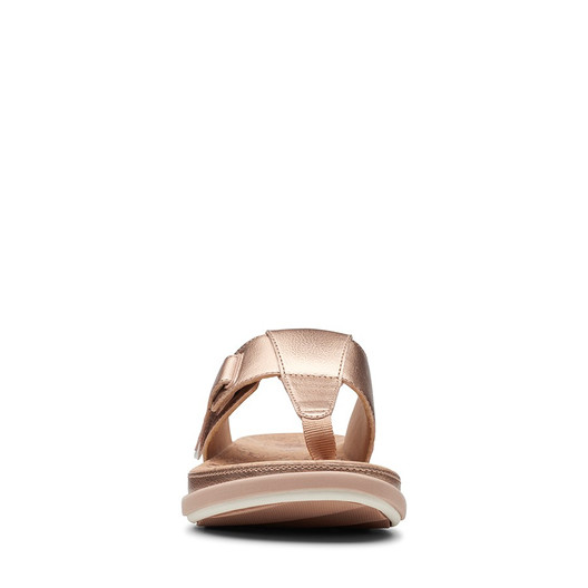 Clarks Womens Step June Reef Rose Gold Synthetic