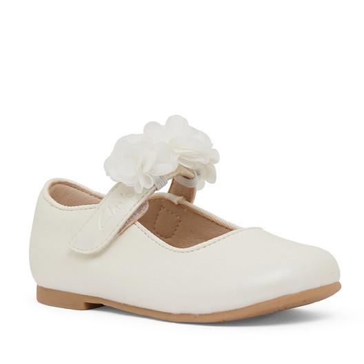 Clarks Girls Ayla Jnr White Pearl