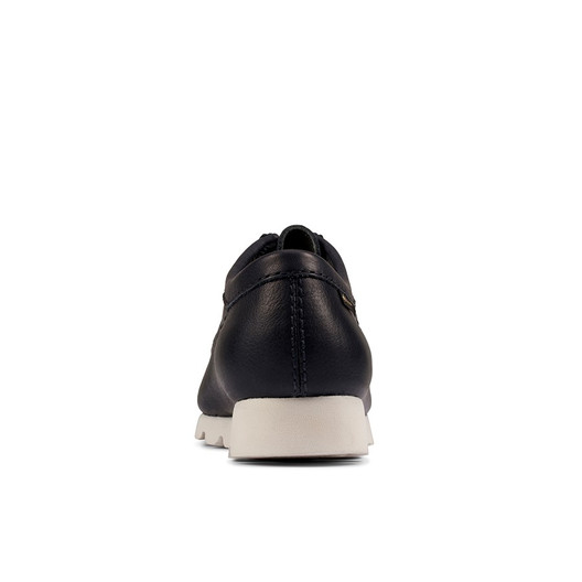Clarks Mens Wallabee Gtx (M) Navy Leather