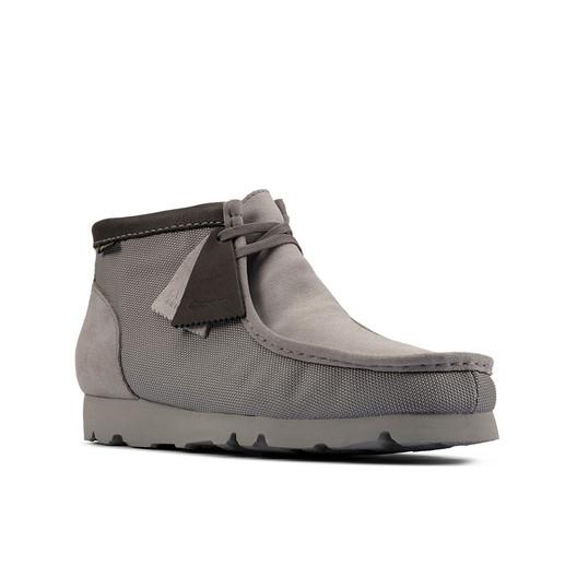 Clarks Mens Wallabee Bt Gtx (M) Light Grey Textile
