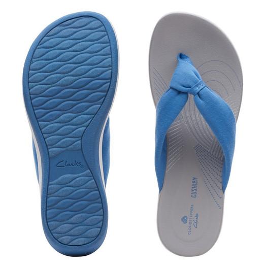 Clarks Womens Arla Glison Blue Solid Textile