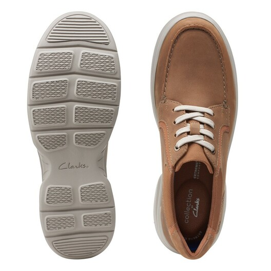 Clarks Mens BRADLEY VIBE Tan Leather