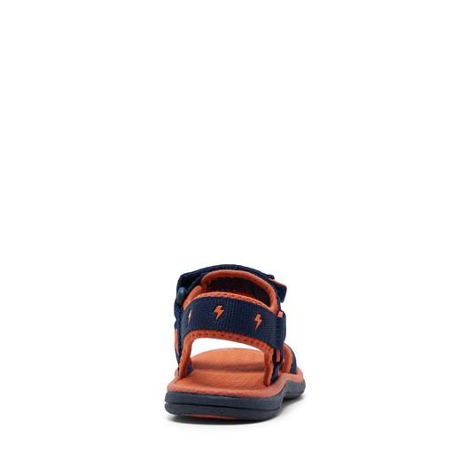 Clarks Boys Finn Navy/Tangerine