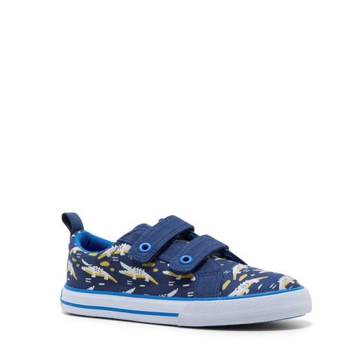 Clarks Boys Luke Navy/Blue Croc