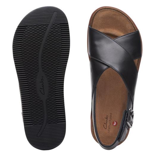 Clarks Womens Elayne Cross Black Leather
