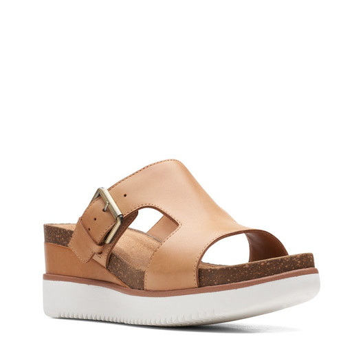 Clarks Womens Lizby Ease Sand Leather
