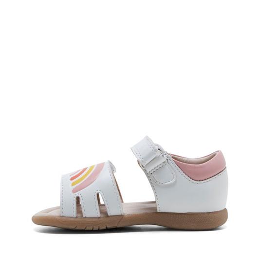 Clarks Girls Sabella White/Pink