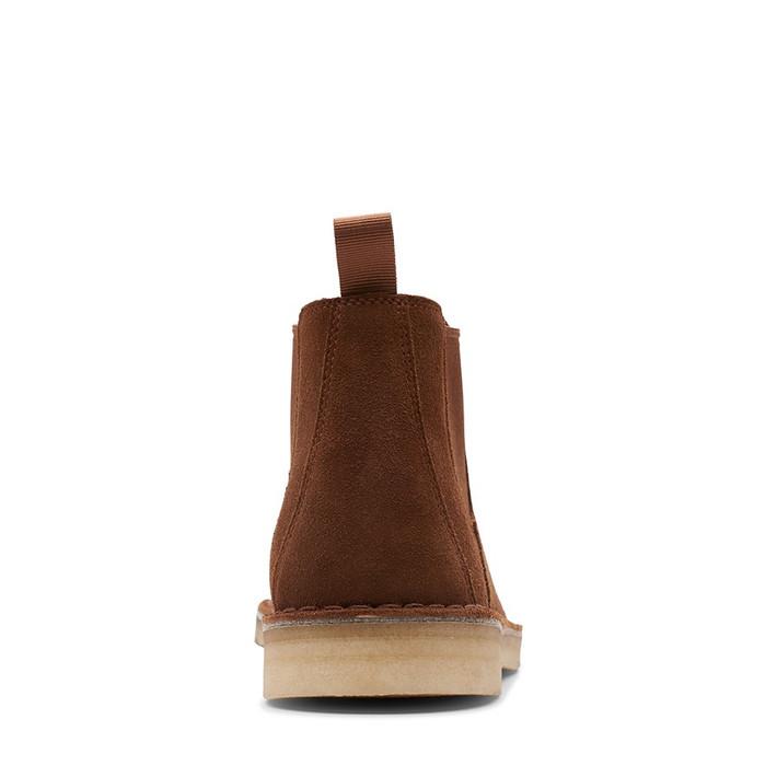 Clarks Mens Desert Boot Chelsea (M) Cola Suede