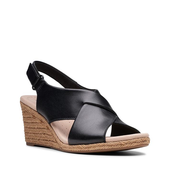 Clarks Womens Lafley Alaine Black Leather