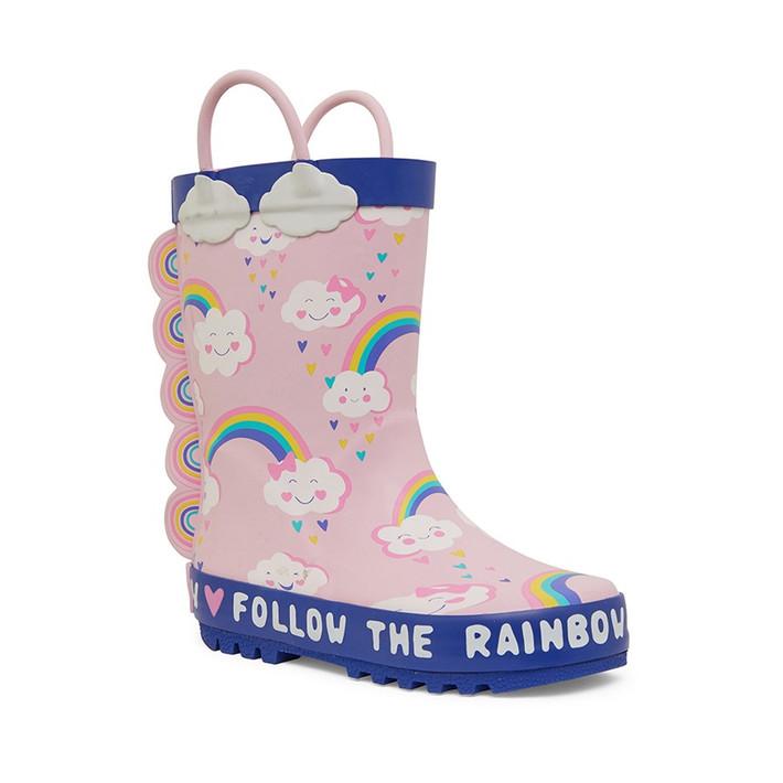 Clarks UnisexChildren Play Pink Rainbows