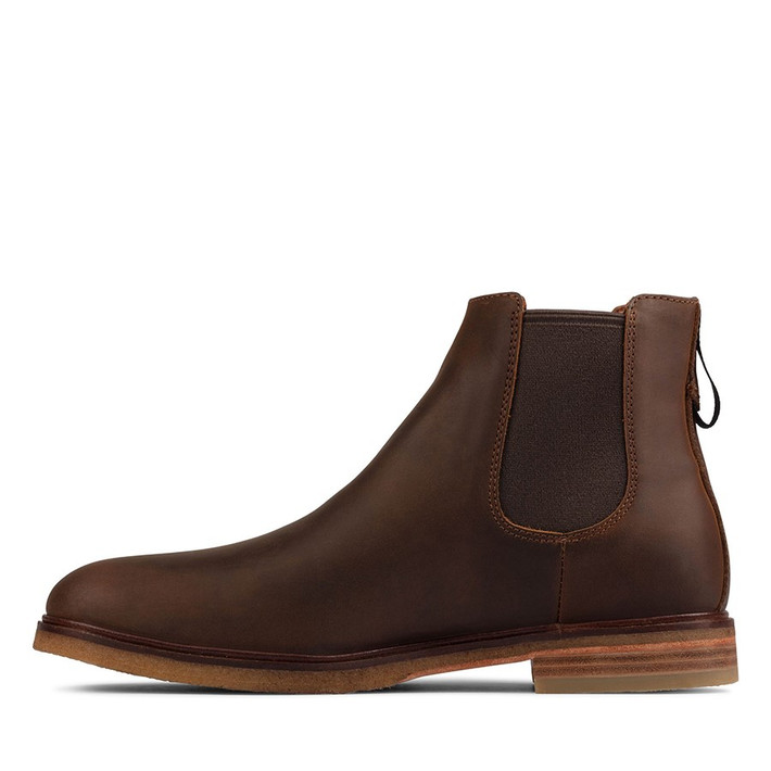 Clarks Mens CLARKDALE GOBI Beeswax Leather