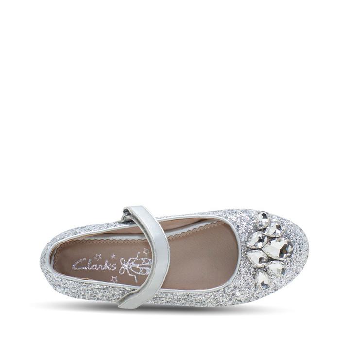 Clarks Girls Silver  Adele