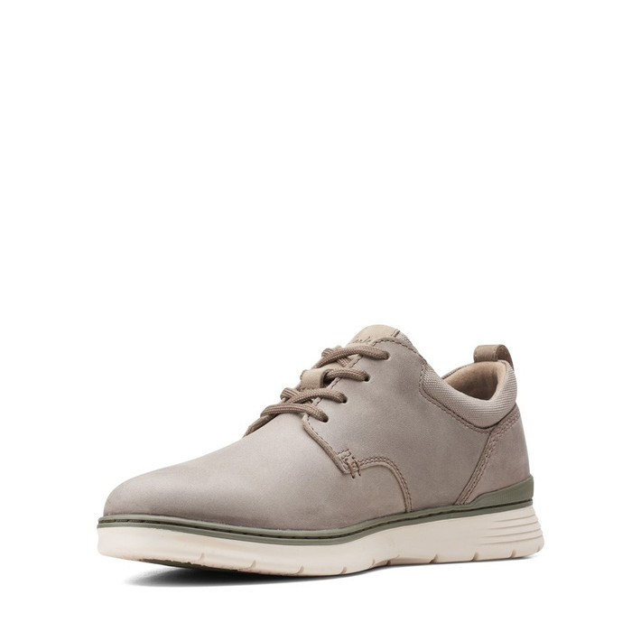Clarks Mens BRAXIN LOW Stone Combo