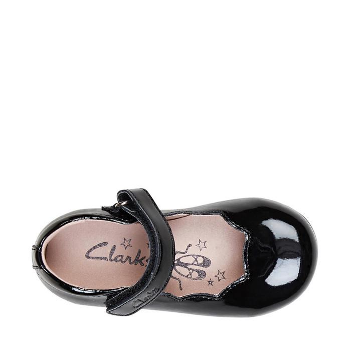 Clarks Girls Audrey II Junior Black Patent