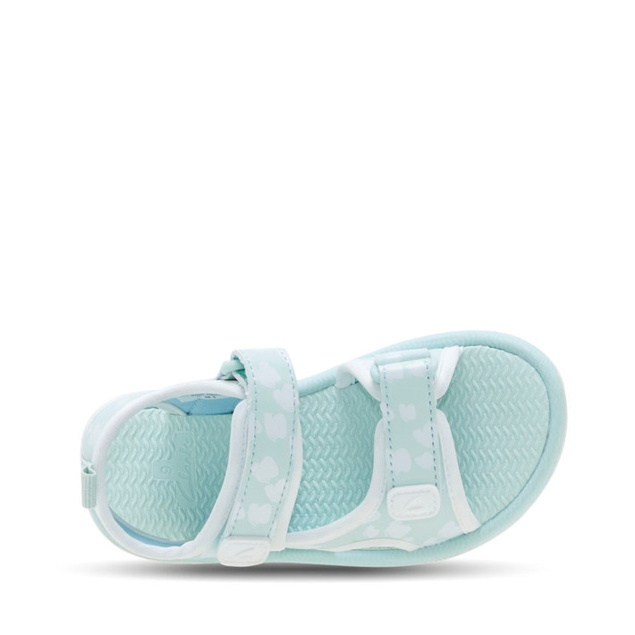 Clarks Girls Florence Mint/White Butterfly