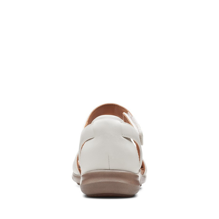 Clarks Womens Kylyn Strap White Leather