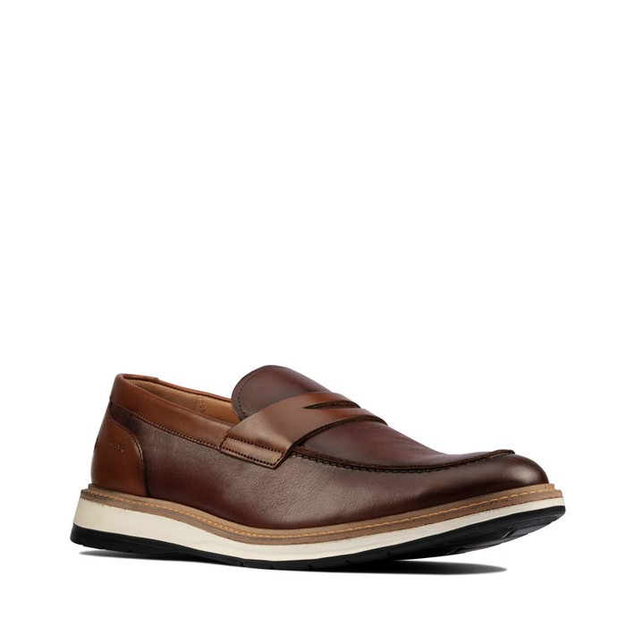 Clarks Mens Chantry Penny Tan Leather