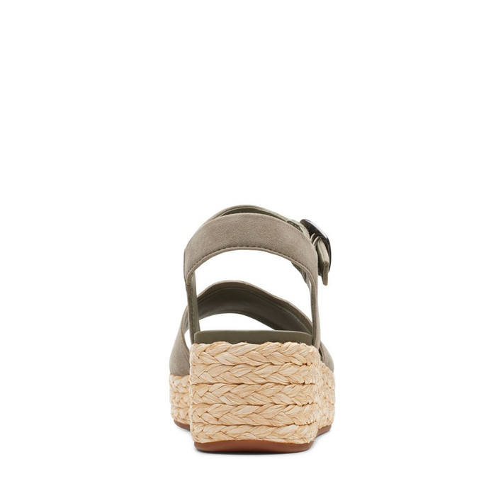 Clarks Womens Kimmei Way Olive Suede