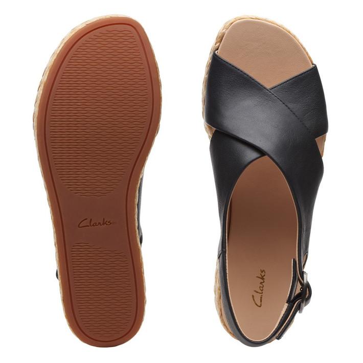 Clarks Womens Kimmei Cross Black Leather