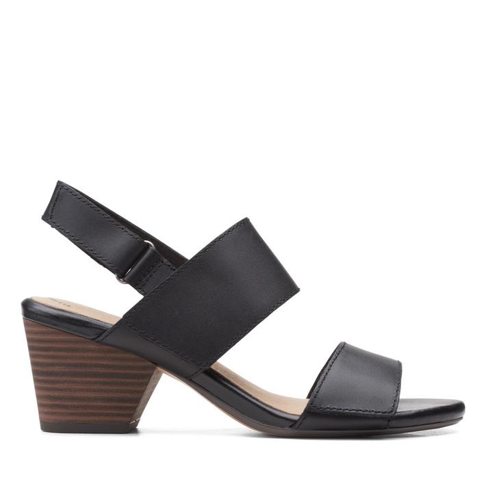 Clarks Womens Lorene Bright Black Leather