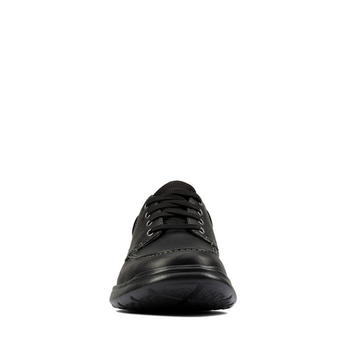 Clarks Mens Cotrell Edge Black Oily Leather