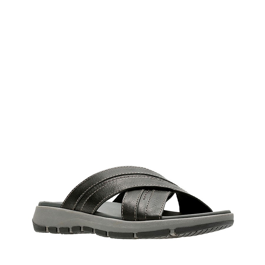 Clarks Brixby Cross Black Leather