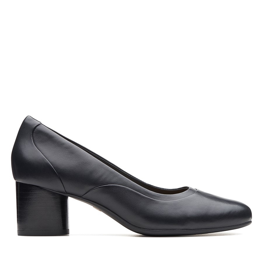 Clarks Un Cosmo Step Black Leather