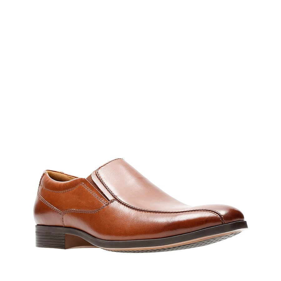 Clarks Conwell Step Tan Leather