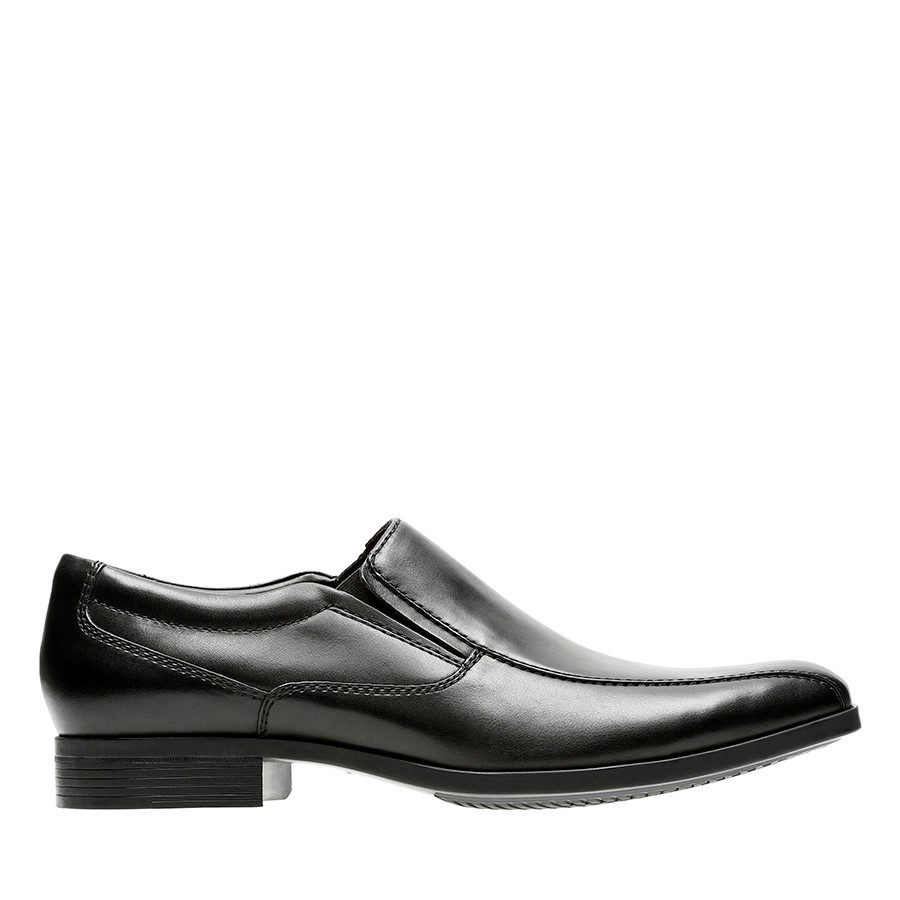 Clarks Conwell Step Black Leather