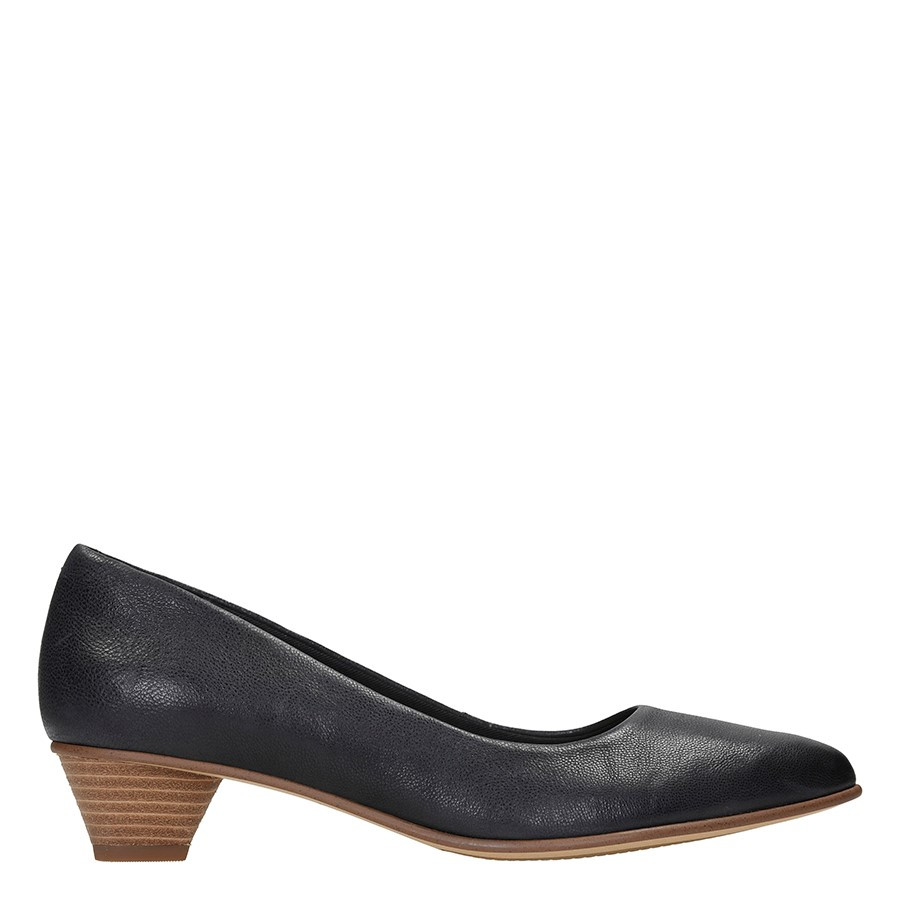 Clarks Mena Bloom Black Leather