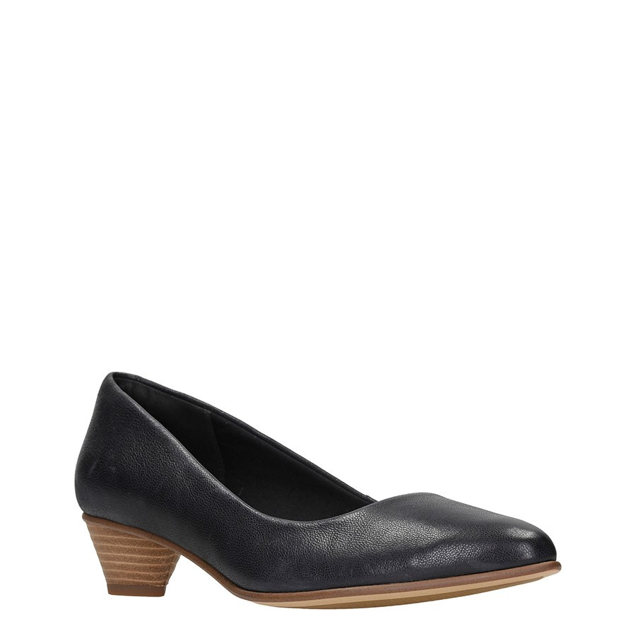 Clarks Mena Bloom Black Leather